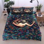 Dancing Flower Printed Bedding Set Bedroom Decor