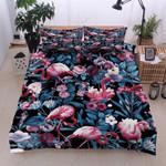 Flamingo Tropical Forest Bedding Set Bedroom Decor