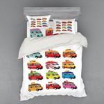 Colorful Trucks Collection Printed Bedding Set Bedroom Decor