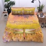 Dragonfly Time Is Valuable Printed Bedding Set Bedroom Decor