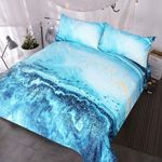Colorful Marble  Printed Bedding Set Bedroom Decor