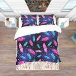 Feathers Dreamcatcher Universe Printed Bedding Set Bedroom Decor