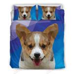 Corgi Dog Geometric Printed Bedding Set Bedroom Decor