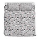 Cute Koala Face Pattern Printed Bedding Set Bedroom Decor
