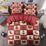 Christmas Stock Heart Printed Bedding Set Bedroom Decor
