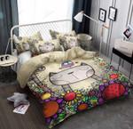 Cute Cat Cartoon Design Printed Bedding Set Bedroom Decor