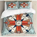 Compass Locations Printed Bedding Set Bedroom Decor