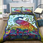 Colorful Peacock Art Printed Bedding Set Bedroom Decor