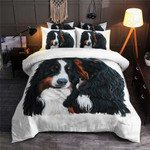 Bernese Mountain Black And White Printed Bedding Set Bedroom Decor