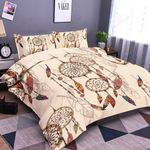 Dream Catcher Feather Pattern Printed Bedding Set Bedroom Decor