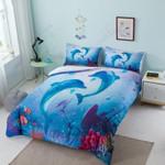 Dolphin In Love Bedding Set Bedroom Decor