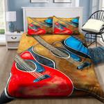 Colorful Guitars Printed Bedding Set Bedroom Decor