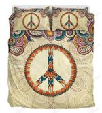 Mandala Peace Sign Printed Bedding Set Bedroom Decor
