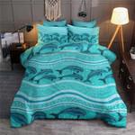 Dolphins Blue Pattern Printed Bedding Set Bedroom Decor