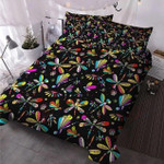 Colorful Dragonfly Printed Bedding Set Bedroom Decor