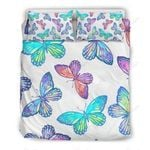 Colorful Butterfly  Printed Bedding Set Bedroom Decor