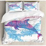 Dolphin Texture Printed Bedding Set Bedroom Decor