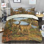 Deer Hunting In Forest Bedding Set Bedroom Decor