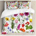 Colorful Flowers In Gardening Bedding Set Bedroom Decor