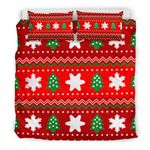 Christmas Pattern  Printed Bedding Set Bedroom Decor