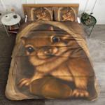 Cute Squirrel Printed Bedding Set Bedroom Decor