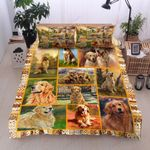 Lovely Golden Retriever  Printed Bedding Set Bedroom Decor