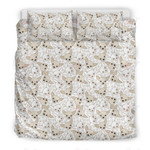 Chihuahua Pattern White Printed Bedding Set Bedroom Decor