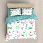 Colorful Dinosaur Art Printed Bedding Set Bedroom Decor