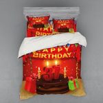 Chocolate Cake Happy Birthday 37th Printed Bedding Set Bedroom Decor