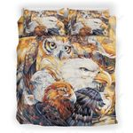 Eagle And Owl Printed Bedding Set Bedroom Decor