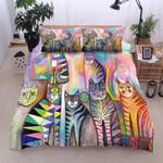 Colorful Cat Printed Bedding Set Bedroom Decor