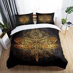 Dragonfly Mandala Style Printed Bedding Set Bedroom Decor