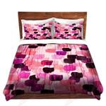 Flower Brush Pink And Purple Bedding Set Bedroom Decor