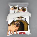 Dog House And White Bone Bedding Set Bedroom Decor
