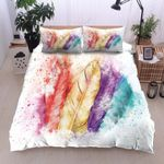 Colorful Feather  Printed Bedding Set Bedroom Decor