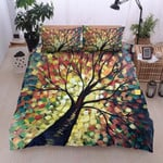Colorful Tree Of Life  Printed Bedding Set Bedroom DecorSet
