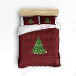 Christmas Tree Red Plaid Bedding Set Bedroom Decor