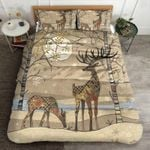 Deer Winter Forest Printed Bedding Set Bedroom Decor