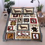 Dachshund Love Square Printed Bedding Set Bedroom Decor