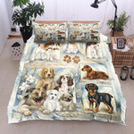 Cute Puppies Happy Family Bedding Set Bedroom Decor