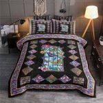 Butterfly Rhombus Design Pattern Printed Bedding Set Bedroom Decor