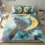 Cat Go To The Moon Bedding Set Bedroom Decor
