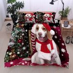 Beagle With Christmas Hat Bedding Set Bedroom Decor