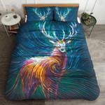 Deer Color Spiral Printed Bedding Set Bedroom Decor