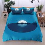 City Tunes Blue Printed Bedding Set Bedroom Decor