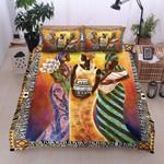Black Woman African American Printed Bedding Set Bedroom Decor
