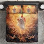 Christian Jesus In Forest Bedding Set Bedroom Decor