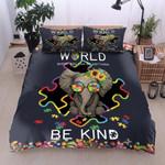 Elephant Be Kind Autism Awareness Printed Bedding Set Bedroom Decor