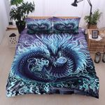 Blue Power Dragon Bedding Set Bedroom Decor