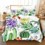 Cactus Beautiful Plant Printed Bedding Set Bedroom Decor